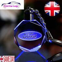 New Ford LED Car Logo Keychain Fairy Light Changing Keyring Car Key Chain Keyfob