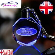 New Ford LED Car Logo Keychain Fairy Light Changing Keyring Car Key Chain Keyfob
