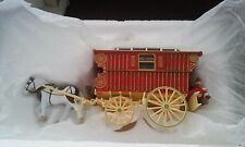 Matchbox Gypsy Caravan 1900 with wooden base stand.