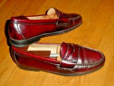 Vtg Cole Haan City Mens Burgundy Leather Penny Loafers Shoes Size 10-D Nice!