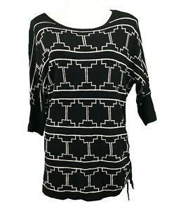 New Directions Sweater Top Size Large Black