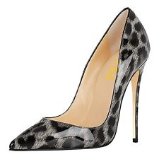 High Heel Pointed Toe 5 in Stiletto Women's Pumps Grey US11