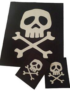 Space Pirate Captain Harlock MISFITS Danzig 80's Death Rock Jacket 3 PATCH SET