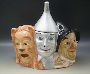1997 WIZARD OF OZ SCARECROW TIN MAN AND COWARDLY LION COOKIE JAR RARE