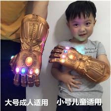 New Thanos Infinity Gauntlet LED Light Gloves Kid Adult Avengers 4 Cos Costume