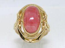 Rhodochrosit Ring 750 Gelbgold 18Kt Gold Handarbeitsring Unikatschmuck