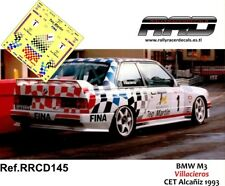 DECAL/CALCA 1/43; BMW M3; Villacieros; CET Alcañiz 1993