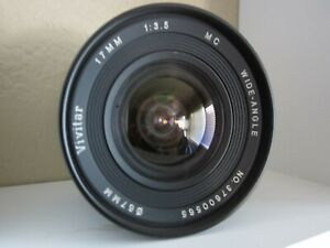 Vivitar 17mm Wide Angle 1:3.5 Prime lens for Nikon