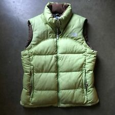 Women's The North Face TNF Forrest Green Nuptse Down 700 Puffer Puffy Vest Sz M
