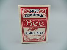 New ListingBee Jumbo Index Playing Cards No. 77 Casino Quality Poker Red Usa Guc