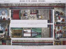 Imagerie populaire. Décors d'une auberge, 1873, Elie HAGUENTAL
