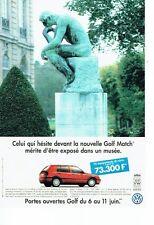 Publicité Advertising 067  1996  Volkswagen  la Golf  Match