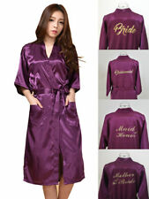 LONG Silk Satin Robe Bride Bridesmaid Dress Wedding Kimono Bathrobe Sleepwear