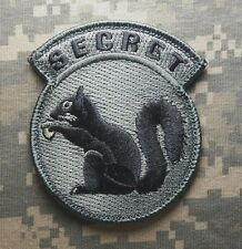 BLACK OPS US MILITARY USA ARMY TOP SECRET SQUIRREL DARK ACU TACTICAL PATCH