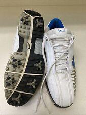 NIKE Power Channel Golf Shoes White/Blue Mens Sz 10