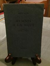 Novalis - Hymnes à la nuit - Falaize - 1950 - Numéroté 658/1225 - B10