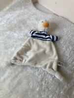 Jellycat Jelly Cat Duck Comforter Blue Striped TeddY Blanket Toy