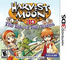 Harvest Moon 3D: The Tale of Two Towns [Nintendo 3DS, NTSC, Farm Life Sim] NEW