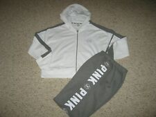VICTORIA SECRET Sweat pants and front zip hoodie Size Large, L, Worn once