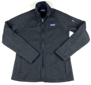 Patagonia Womens Better Sweater Fleece Full Zip Jacket Black Size Medium