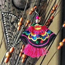 Tassel Women Jewelry Earrings Beautiful Floral Boho Embroidered