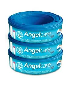 3x Angelcare Nappy Refill Cassettes Disposal System Wrappers Bags Sacks