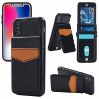 iPhone X Luxury Leather Card Holder Wallet Stand Back Cover Case iPhone 10
