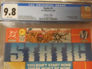 STATIC 1 CGC 9.8 STATIC 1ST APP DC MILESTONE COLLECTOR'S EDITION MOVIE RUMORS