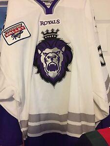 2002-03 ECHL NHL AHL IHL CHL READING ROYALS MIKE MINARD GAME WORN HOCKEY JERSEY