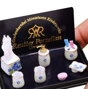 Blue Forget-me-not Bath Access. 1.774/6 Biedermeier Reutter Dollhouse Miniature