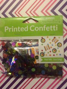 Creative Converting - #025412 Bright and Bold Happy Birthday Printed Confetti