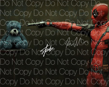 Deadpool signed Stan Lee Ryan Reynolds autograph 8X10 photo picture poster RP 4