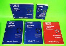 2002 Ford Mustang Service Shop Repair Manual Book Set Coupe Convertible GT