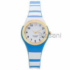 Kate Spade Original KSW1088 Women's Rumsey Blue/White Striped Silicone Watch