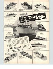 1958 PAPER AD Trojan Motor Boat 15' 17' Marlin Ski Bee Breeze Queen Bimini