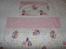 Disney Minnie Mouse Kids Bedding 100x135 Fabric Bedding Retro Bedlinen Diy