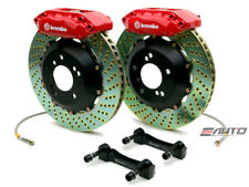 Brembo Front GT BBK Big Brake 4piston Red 328x28 Drill Disc Rotor Civic 96-00