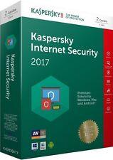 Kaspersky Internet Security 2017 2PC | 1Jahr | Download | Deutsch | Antivirus