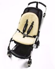 NATURAL SHEEP WOOL LINER COVER MAT FOR PUSHCHAIR BUGGY PRAM CARSEAT - UNIVERSAL