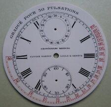GENUINE VINTAGE ULYSSE NARDIN CRONOGRAFO POCKET WATCH PORCELAIN DIAL 44.90 mm