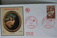 ENVELOPPE PREMIER JOUR SOIE 1969 CROIX-ROUGE L'ETE