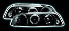 Fiat Punto Black / Smoked Angel Eye (Halo ring) Headlights - Pair New