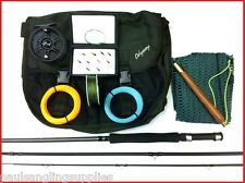 Complete Fly Fishing Kit  Rod Reel Line Bag Flies Priest Backing Box Leader