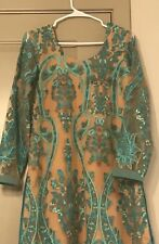 Medium Sized Pakistani Embroidered Net Elegant Kurti Like Khaadi not agha noor