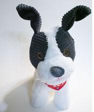 Hallmark Love to the Max Animated Puppy Dog Scarf Plush Black White