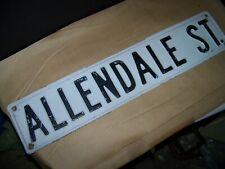 allendale st old  Vintage Street Sign Embossed 24 x 6 Black & White HEAVY