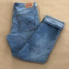 Levi's Womens Size 27 Blue Boyfriend Distressed Mid Rise Jeans