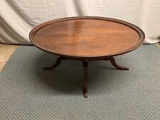 Vintage Oval Mahogany Coffee Table
