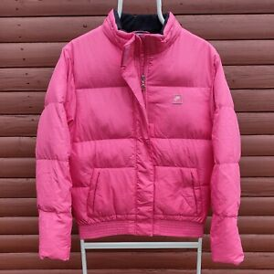 NIKE AIR Down Filled Puffer Jacket Size XL Women's Pink with Pockets