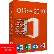Microsoft Office 2019 Professional plus Lizenz für 1 PC MS Office 2019 pro plus